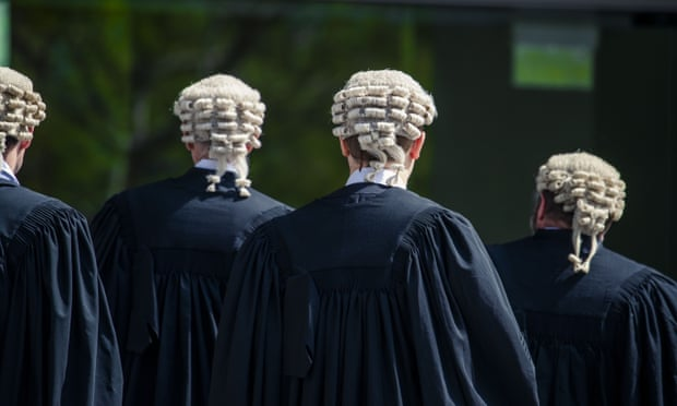 Barristers in wig and gown, walking away - Source- The Guardian - Photographer Glenn Hunt AAP