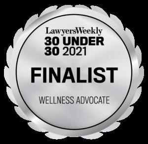 Lawyers Weekly 30 under 30 finalist